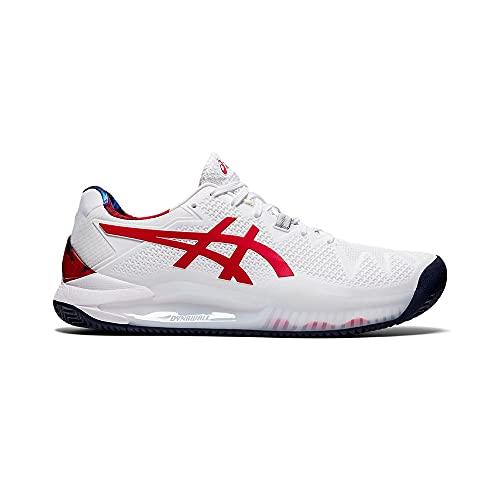 ASICS Gel-Resolution 8 Clay L.E, Zapatillas de Tenis Hombre, Color Blanco clásico, 43.5 EU