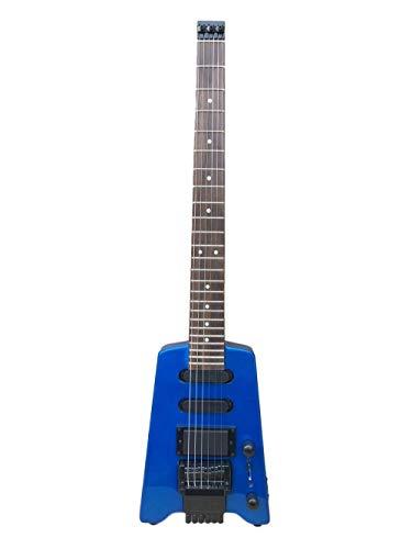 MLKJSYBA Guitarra Guitarra Eléctrica Sin Cabeza 30 Pulgadas Viajes Portátil 24 Magenta...