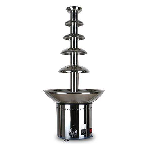 BLLXMX 5 Ebenen Schokoladenfondue großer Brunnen, professionelle Wasserfallschmelzmaschine Buffet-Heizung, für gewerbliche Haushalt Geburtstag Hochzeit
