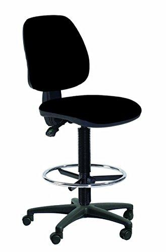 Topsit IND201 - Silla de escritorio alta (con reposapiés y