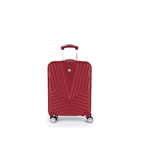 Gabol - Atlanta | Maleta de Cabina con Cargador USB Rigida de 40 x 55 x 20 cm con Capacidad para 34 L de Color Rojo