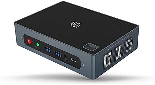 Beelink GTI8 - Mini PC con Windows 10 Pro, Intel i5-8259U, Ultra HD 4K, RAM 8 GB DDR4, SSD 256 GB, ranura de 2,5' para disco duro/SSD adicional, Wi-Fi 6 AX, Gigabit Ethernet, HDMI, USB-C, DisplayPort