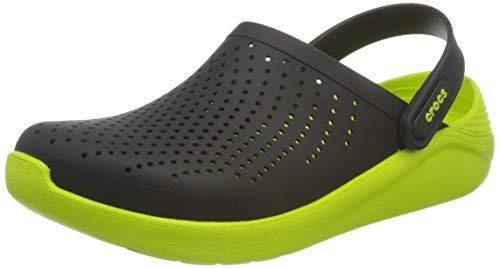 Crocs Unisex-Erwachsene LiteRide Clog Clogs, Schwarz/ Lime Punch, 38/39 EU