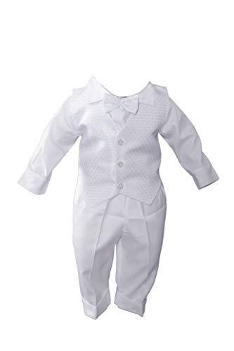 Miss Cocolina Baby Taufanzug Weiß Anzug Taufe Festanzug Taufset (62/68 (24))