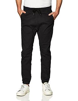 Southpole Men s Basic Stretch Twill Jogger Pants-Reg and Big & Tall Sizes Black Medium