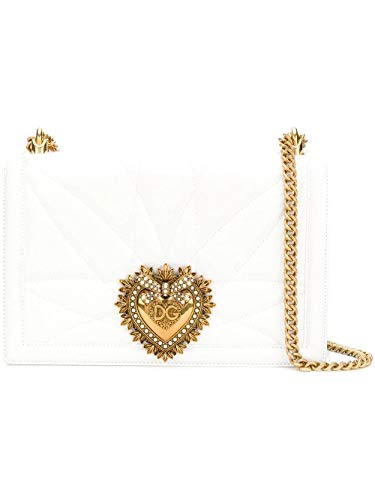 Luxury Fashion | Dolce E Gabbana Donna BB6651AV96780002 Bianco Borsa A Spalla | Autunno Inverno 19