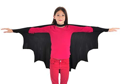 CoolChange Disfraz de murciélago, Capa para niños, Talla: 110