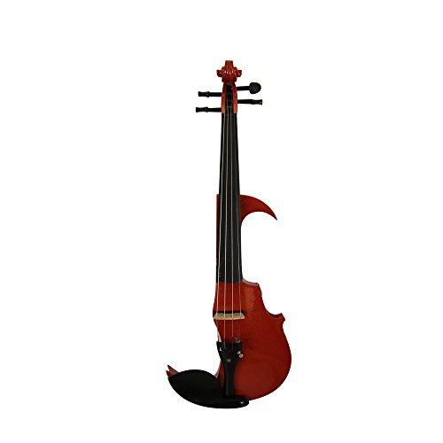 Violín eléctrico silencioso rojo metálico 4/4tamaño violín WL con lazo y estuche acolchado