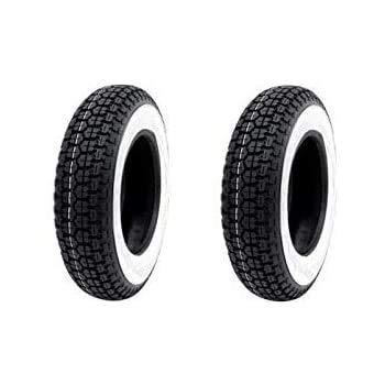 Set 2 x Reifen 3.50.8 Weiß für Vespa 150 Demo
