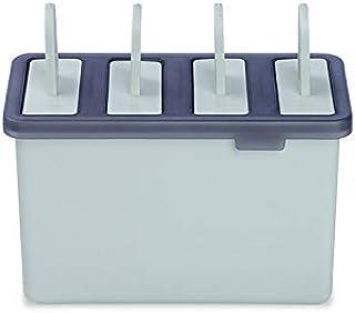 アイスクリームモールド 蓋付き4本取アイスキャンデ 可愛いセット キッチンツール 製氷皿 DIY 氷ボックス 料理ツール 収納ケース 道具 製氷器 手作り 多機能 アイスクリームアイスキャンデーアイスボックスセット(グリーン)