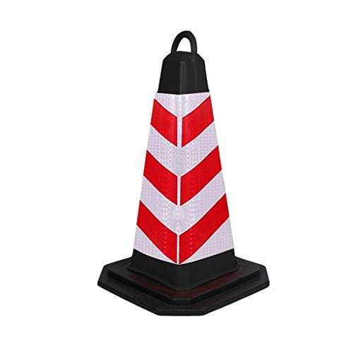 straight fire 69cm Traffic Cones Safety Cones Reflective Collars - Construction Cones - Road Cones - Parking Cones - Street Cone (Color : 1pcs)