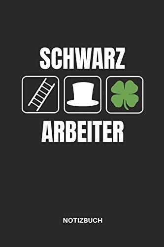 Schwarz Arbeiter Notizbuch: Notizheft oder Journal für Schornsteinfeger, 110 linierte Seiten im Format 6x9 (15x23cm)