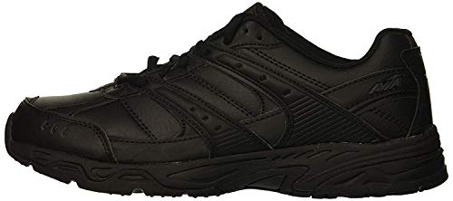 Avia Women's Avi-Verge Sneaker, Jet Black/Castle Rock, 8.5 Medium US