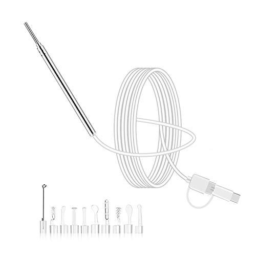 Lechnical Strumento per la pulizia del cucchiaio visivo dell\'orecchio dell\'ocoscopio di ispezione impermeabile della macchina fotografica dell\'endoscopio dell\'orecchio 3.9MM HD 1080P 2MP IP67