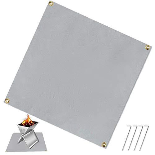 スパッタシート, 防火シート 耐火 耐熱 瞬間耐火温度1500度の薪ストーブの溶接に使用されます。 (100*100cm)
