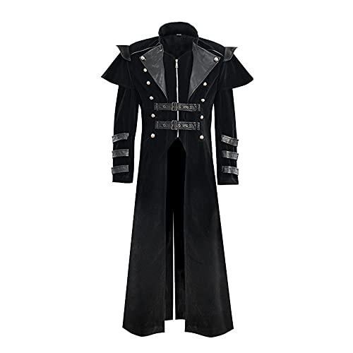 Vestido medieval steampunk chaqueta vestido largo vestidos vintage renacentista, abrigo de manga larga para hombre y mujer
