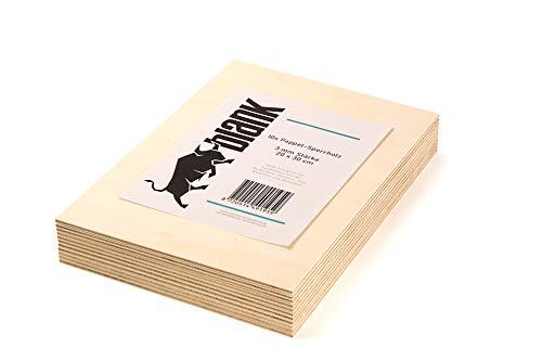 blank - Sperrholz Platten Pappelsperrholz für Laubsäge und Bastelarbeit in verschiedenen Vorteil Sets, Modellbau, kreativ Hobby, Bastelholz