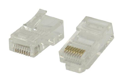 Valueline VLCP89331T Benutzerfreundliche RJ45 Stecker für UTP CAT5 Kabel mit flexiblen Innenleitern 10 Stück