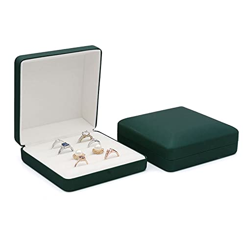Caja Joyero Caja De Joyería, Caja De Joyería De Viajes Pequeños Para Mujeres, Niñas, Organizador De Joyería Portátil Mostrar Caja De Almacenamiento Para Pendientes Collar De Anillo Verde Rojo Jewelry