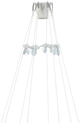 Best Season System LED / Flagpole-Start-Set / 26-teilig / Inhalt: Top-Ring / 8 Haken / Connector-Ring / 8 Nylonseile / 8 Heringe / weißfür System LED - Lichterkette,outdoor 466-20