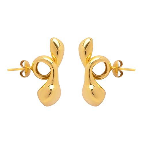 PIKAqiu33 Earrings Antler Earpin Boho Ear Crawler Wrap Earring Bohemian Jewelry Gift, Earrings, for Xmas Day and New Year (Gold)