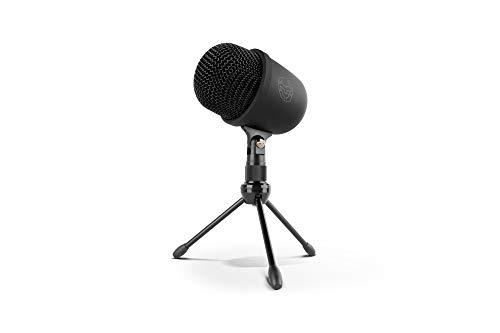 Krom Kimu Pro -NXKROMKIMUPRO- Micrófono unidireccional, Conexión micro USB para móviles y tablets, audio 3.5 mm jack