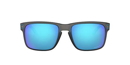Preisvergleich Produktbild Oakley Herren Holbrook 9102F2 55 Sonnenbrille,  Grau (Matte Grey Smoke Aero / Prizmsapphire)