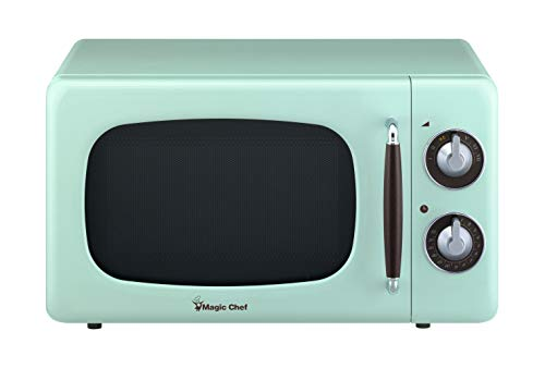 Magic Chef MCD770CM Mint Green 0.7-Cu. Ft. 700W Retro Countertop Microwave Oven, 7 Cu.Ft