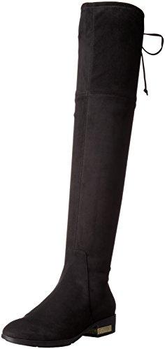 Guess Damen Zafira Reitstiefel, Schwarz (schwarze Velourslederoptik), 40 EU
