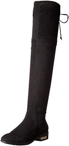Guess Women's Zafira Riding Boot, Black Suede, 9.5 M US