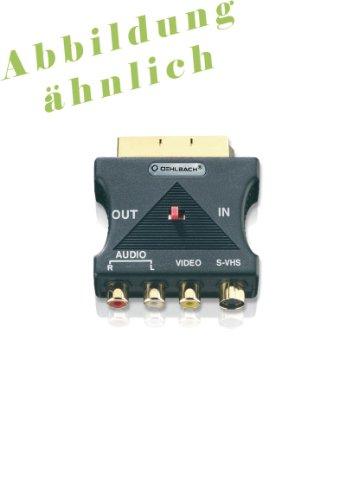 OEHLBACH 4510 - Adaptador de euroconector a S-VHS/FBAS/Audio (1 Unidad) Nivel de Calidad ****