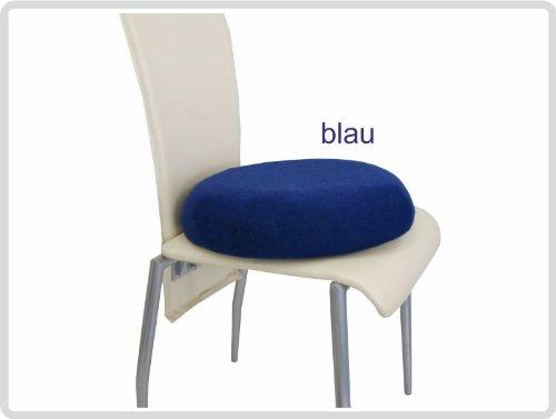 Latexkissen Sitzkissen Sit Ring Anti-Dekubitus-Sitzkissen rund, inkl. Frotteebezug, blau
