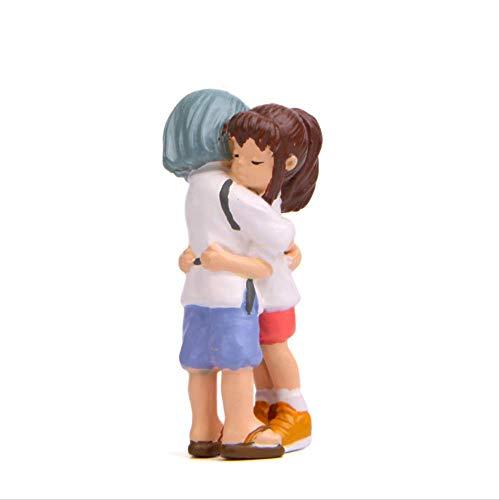 Yangzou Spirited Away DIY Creative Kohakunushi Hug Chihiro Anime Totoro Resin Figura De Acción...