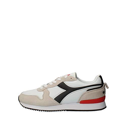 Diadora Olympia, Zapatillas de Deporte Hombre, Blanco (White/Black C0351), 44 EU