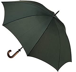 CLIFTON UMBRELLAS Bottle Large Cover Classic Look with Wood Handle Umbrella, Bottle Green, One Size
