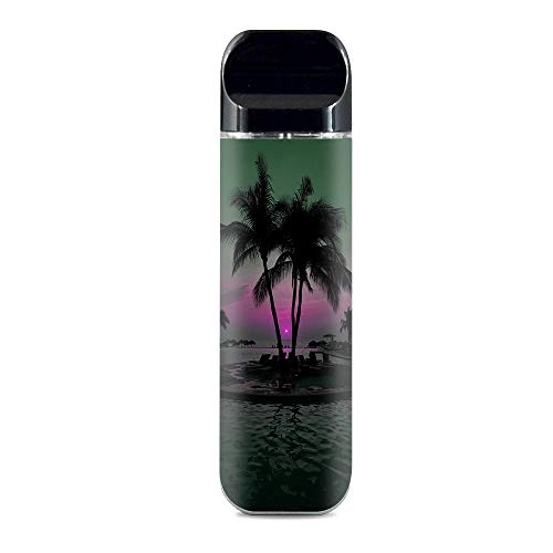 IT'S A SKIN Decal Vinyl Wrap for Smok Novo Pod System Vape Sticker Sleeve Cover/Sunset Tropical Paradise Poolside