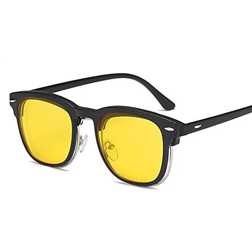 NIUBKLAS Clip en gafas de sol clip en gafas medio marco Hombres Mujeres clip de espejo Gafas de sol Visión nocturna Gafas de sol de conducción para hombres CT221C8ZBC2