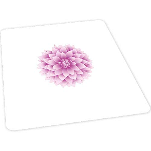 Dahlia Desk Chair mat, Vivaciously Illuminated Sketch of a Purple Dahlia with Magenta and White Petals, 35' x 47' Desk Chair mat for Carpet