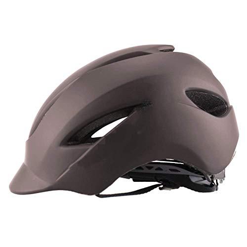 Yppss Lässige Reithelm Integrated Molding, Fahrradhelm leichte, tragbare Belüftung und Ventilation Mountain Bike Mountain Road Ausrüstung Eternal (Color : Brown)