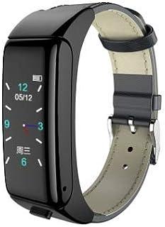 MAI Vavshop 2 en 1 auriculares Bluetooth Fitness pulsera rastreador de actividad reloj inteligente pulsera impermeable con función de monitoreo de la frecuencia cardíaca