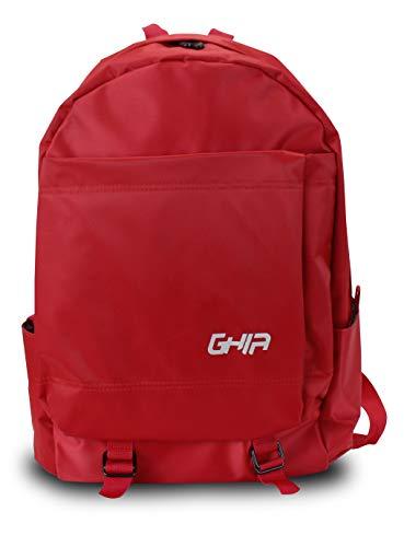Mochila Backpack Ghia Juvenil Gm-011R, 15.6', Rojo, 3 Compartimientos