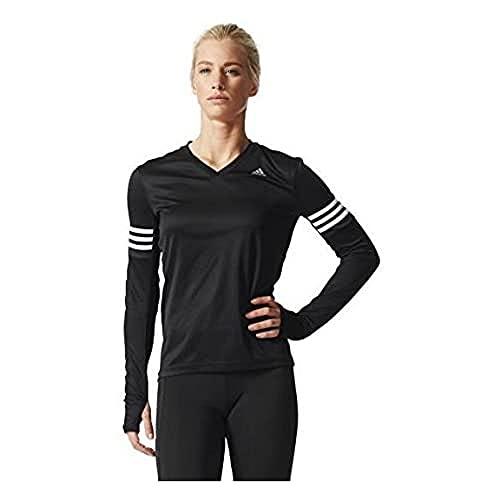 adidas Damen Langarm Shirt Response, Black, M