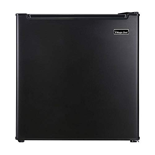 """MCAR170BE 18"""" Mini Refrigerator with 1.7 cu. ft. Capacity, Compressor Cooling, Wire Shelf and Recessed Handle in Black"""