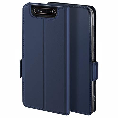 Preisvergleich Produktbild HoneyCase für Handyhülle Samsung Galaxy A80 Hülle Premium Leder Flip Schutzhülle für Samsung Galaxy A80 Tasche,  Blau