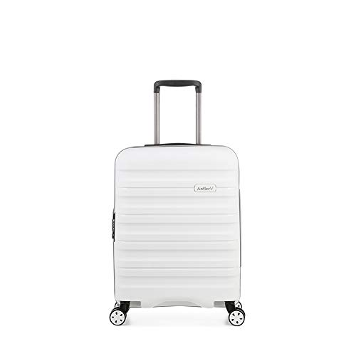Antler Juno II Monos, Durable & Lightweight Hard Shell Suitcase - Colour: White, Size: Cabin