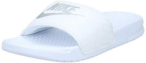 Nike Damen Wmns Benassi Jdi Dusch- & Badeschuhe, Weiß (White/Metallic Silver), 36.5 EU
