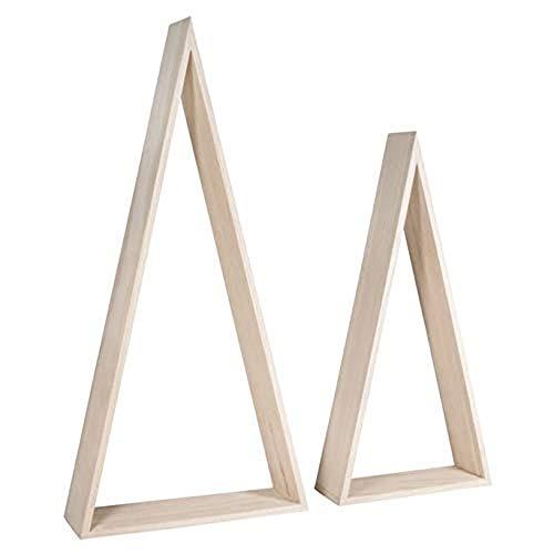 RAYHER Rahmen, Dreieck, Fsc Mix Credit, Diverse, Holz, 5.4 x 2.62 x 0.8 cm