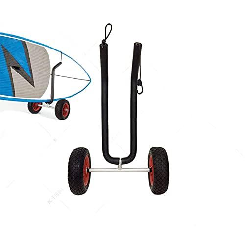 NONGLAN Remollee Universal del Carro De Kayak con Un Marco De Aluminio Fuerte, Neumáticos Grandes De Goma Sin Aire, Lleva hasta 165 Libras