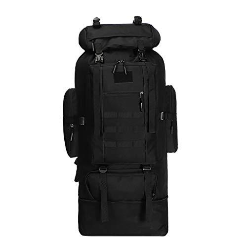 Calvinbi Kampfrucksack Tarnrucksack Backpacker Rucksack 100l 90+15L Erwachsene Wanderrucksäcke Trekkingrucksäck Reiserucksäck mit Regenhülle Backpacking Wanderrucksack
