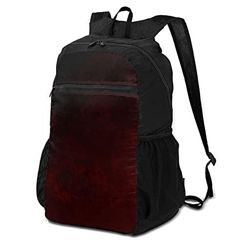 Mochila escolar de almacenamiento para ordenador portátil, mochila esencial oscuro oscuro burdeos moteado urbano Grunge casual mochilas de negocios mochila de viaje senderismo mochila escolar escolar